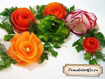 Красивая овощная нарезка. Оформление (фото)